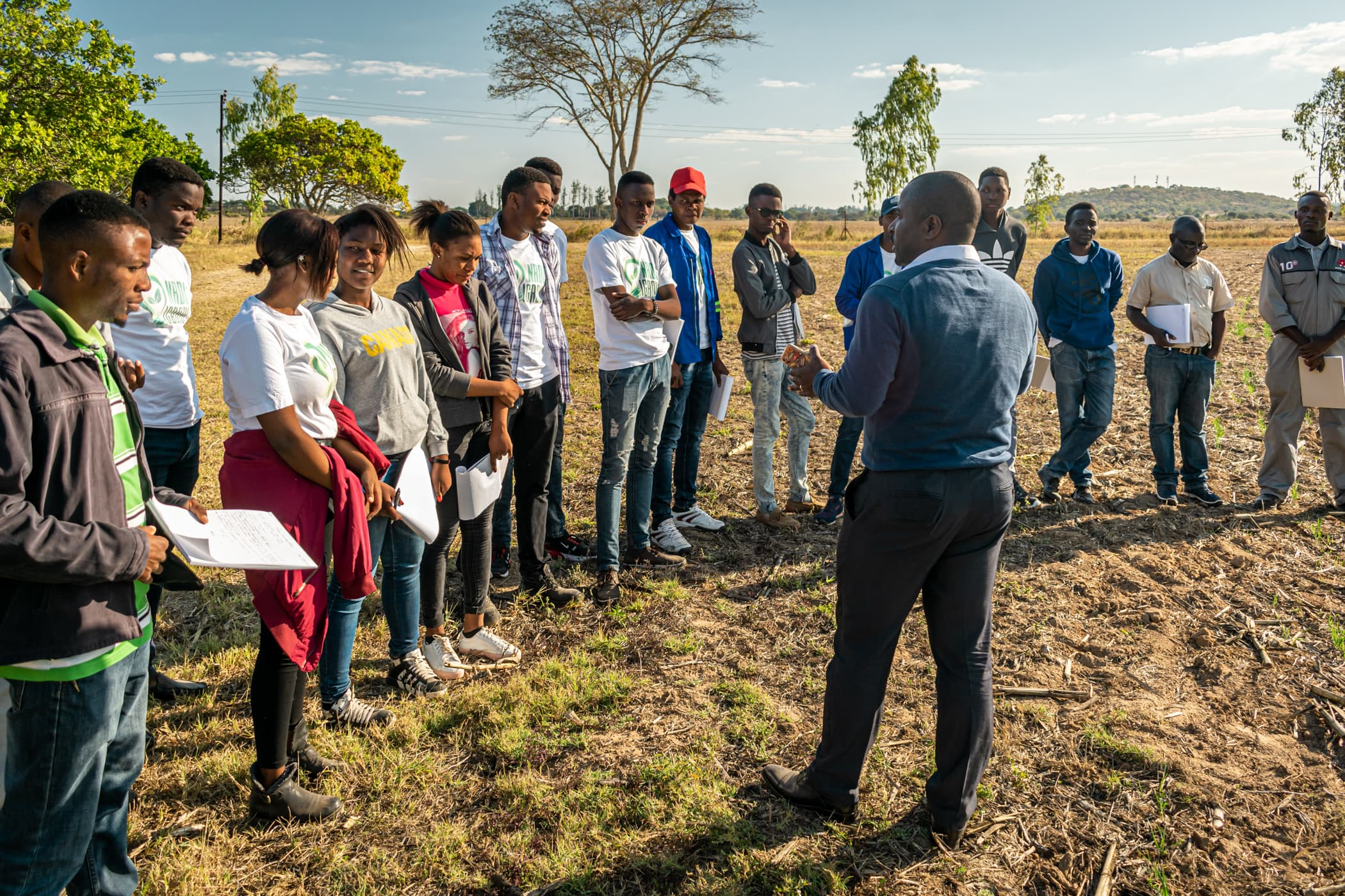 Agronomy class, Africa